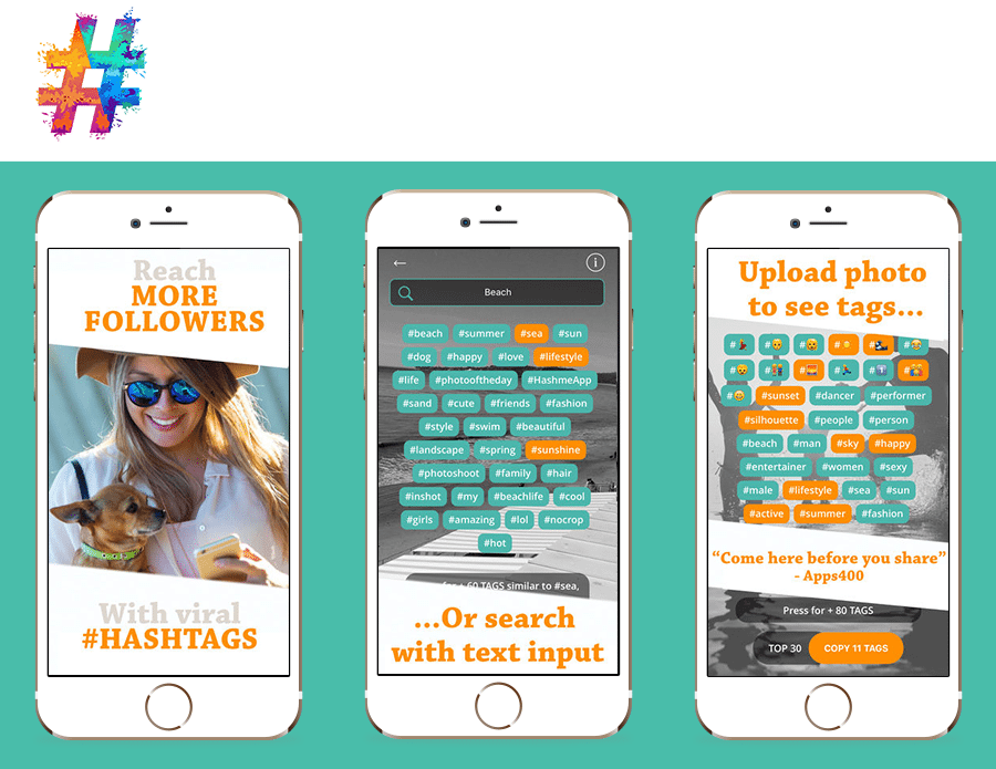 Hashme - find viral hastags for Instagram