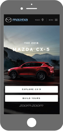 Mobile first - Mazda Canada Website
