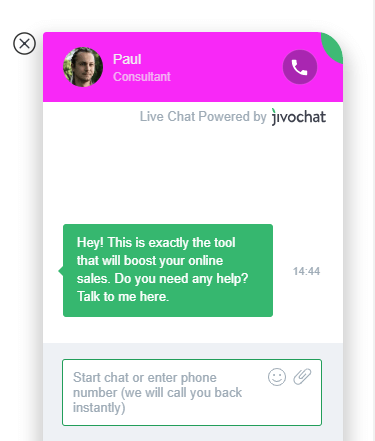 Chatbox from jivochat.com